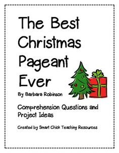 free teaching materials for the best christmas pageant ever lit class pinterest pageants school and language arts - The Best Christmas Pageant Ever Summary