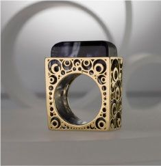 Sharon Lanciano ring - always love the side and back work of a ring-the wearer is the one that sees that the most...