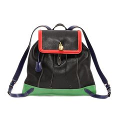 Tricolor Skull Padlock Backpack by Alexander McQueen