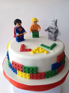 #lego #superheroes #cake
