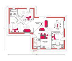 Cette Maison Moderne Plain Pied Aux Lignes épurées, Offre Une Atmosphère  Chaleureuse Alternant Des