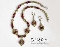 Reverie Necklace & Earrings beaded pattern tutorial by Deb