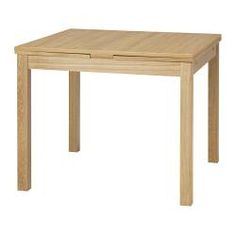 2 pull-out leaves included. Dining table with 2 pull-out leaves seats 4; makes it possible to adjust the table size according to need. Pull-out extra leaves give you a practical utility surface and are stored within easy reach under the table top. The clear-lacquered surface is easy to wipe clean.