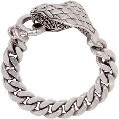 "erowid:  ""SAINT LAURENT, Silver animalier cobra bracelet  """