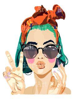 Illustration Vector, Portrait Illustration, Illustration Girl, Character Illustration, Fond Pop Art, Drawing Simple, Frida Art, T Shirt Painting, Minimalist Art