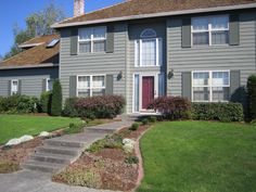 exterior house paint color combinations | ... exterior paint project. All we did was paint. What a difference