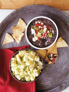 Recipes from The Nest - Chipotle Black Bean Dip with Corn Chips
