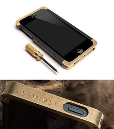 Brass iPhone Case - Made in Arizona, USA, this new case for iPhone 5/5S features bumpers made of brass, a material favored in mid-century modern design. | Werd