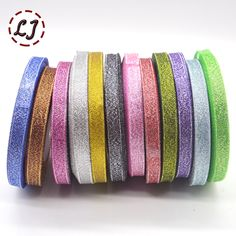 Cheap ribbon webbing, Buy Quality glitter ribbon directly from China gold glitter ribbon Suppliers: Brand high quality 3/8''(10mm) 12 color Silver gold Glitter ribbon webbing for wedding craft bow gift decoration Wrapping riband