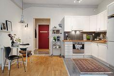 Stylish Kitchen Cabinet Design Ideas You'd Wish to Own Scandinavian Style, Scandinavian Kitchen, Scandinavian Interior Design, Swedish Style, Kitchen Cabinet Design, Kitchen Decor, Kitchen Cabinets, Kitchen Modern, Kitchen Ideas