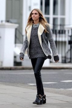 25 Stylish Ways To Wear A Cozy Chunky Knit Sweater - Styleoholic