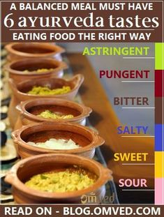 6 #Ayurveda Tastes Rasa for Balanced Meal