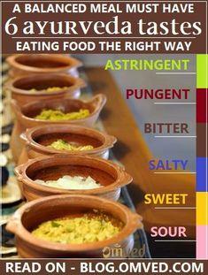 6 #Ayurveda Tastes Rasa for Balanced Meal
