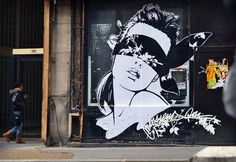 Smile Now, Cry Later – Street art by Monsieur Qui