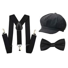 Discover Kids Boys Suspenders and Bow Tie Set 1920s Great Gatsby Gangster Newsboy Hat Cap Costume Accessories. Explore our Boys Fashion section featuring new #shopping ideas of the best collection of #BoysFashion #BoysAccessories and #fashion products online at #Jodyshop Marketplace. Boys Accessories, Costume Accessories, 1920s Costume, Gatsby Hat, Suspenders For Boys, Sun Protection Hat, News Boy Hat, Tie Set, Cute Bows