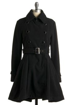 Complete Wardrobe Coat // Love the military structure & style of this coat, but with the feminine a-line flair.