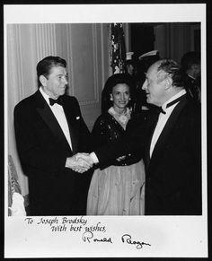 Рональд Рейган приветствует Иосифа Бродского
