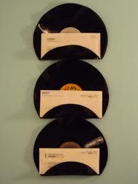 re-purposed vinyl records to organizers
