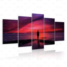 Quadro Un uomo che ammira il tramonto