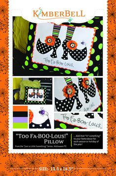 """""""Too Fa-BOO-Lous"""" Just a Little Something for...a Happy Halloween #3"""