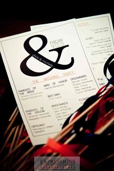 """Real Wedding: Chris & Michelle, create a """"brand""""- use one symbol, or monogram throughout your invites, programs, favors etc."""