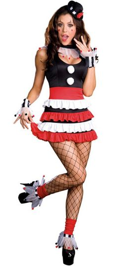Clown costume @Roxie Ayres look at makeup on her too
