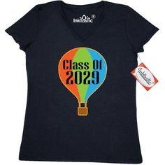 Inktastic Class Of 2029 School Gift Women's V-Neck T-Shirt Back To Cute Boys Girls Kids Childs Graduation Graduating Future Graduate Clothing Apparel Pride Tees Adult Hws, Size: Large, Black