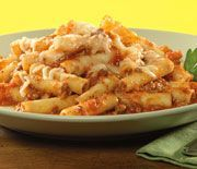 Ziti in your slow cooker, delicious and  best of all, when you use Reynolds Slow Cooker liners, there's no mess to clean up.  Serves 10