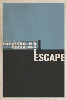 The Great Escape minimalist movie poster from a series by artist Matt Owen.
