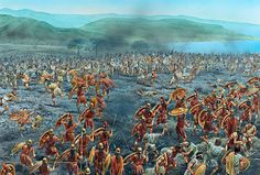 The battle on the island: Psiloi against Hoplites