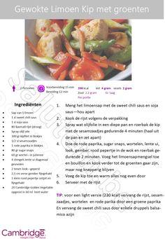 Gewokte Limoen Kip met groenten - Cambrige Weight Plan Ranst - Schoonheidsinstituut Salutem Ranst
