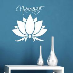 Lotus Flower Namaste Wall Sticker - Yoga Inspired Wall Sticker by ZygoMax on Etsy https://www.etsy.com/uk/listing/516648417/lotus-flower-namaste-wall-sticker-yoga