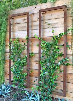 The INA WALL TRELLIS SR from Terra Trellis. A colorful modern trellis, perfect for vertical gardens, patios, wall gardens, small garden spaces. Wall Trellis, Garden Trellis, Metal Trellis, Garden Fencing, Trellis On Fence, Planters On Fence, Deck Trellis Ideas, Hanging Plants On Fence, Plant Shelves Outdoor