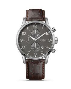 Boss Hugo Boss Quartz Aviator Chronograph Watch, 44mm