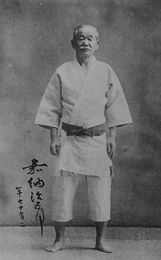 The great master of Judo and a founder of Kodokan Judo School,  Mr. Jigoro Kano. I was moved by the story of him; as he was very old and close to death, he called his students around him and told them that he wanted to be buried in his white belt. This world's highest-ranking judoist asked for the emblem of the beginner as his last will. What a deep dedication into the martial art and humbleness!