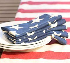 American Flag Napkins, Set of 4 | Pottery Barn