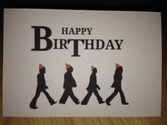 The Beatles birthday card by PrettyPrintsVintage on Etsy Happy Birthday Beatles, Birthday Greetings For Daughter, Beatles Party, Birthday Love, Birthday Party Themes, The Beatles, Birthday Nails, Birthday Wishes Messages, Birthday Card Sayings