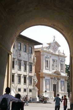 Pisa Piazza dei Cavalieri; Chiesa dei Cavalieri di Santo Stefano-Church of the knights of Saint Stephan