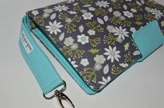 Diaper Clutch, Diaper Bag, Teal And Grey, Gray, Shape And Form, Cotton Fabric, My Etsy Shop, Floral Prints, Pouch