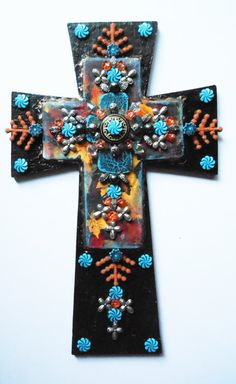 CROSS SALE ooak hand made han painted by CrossMyArtByLynnWebb