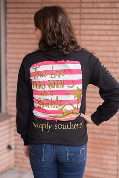 Simply Southern Long Sleeve Born in a Stable Tee
