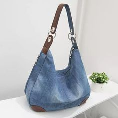Item Type: HandbagsExterior: NoneNumber of Handles/Straps: SingleInterior: Interior CompartmentClosure Type: StringHandbags Type: Messenger BagsShape: BaguetteDecoration: NoneGender: WomenPattern Type: SolidHardness: HardLining Denim Handbags, Denim Tote Bags, Fashion Handbags, Fashion Bags, Women's Handbags, Jean Purses, Big Purses, Purses And Bags, Ethnic Bag