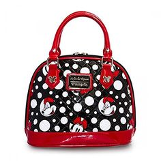 Loungefly Disney Minnie Mouse Polka Dot Quilted Dome ** Check this awesome product by going to the link at the image.Note:It is affiliate link to Amazon.