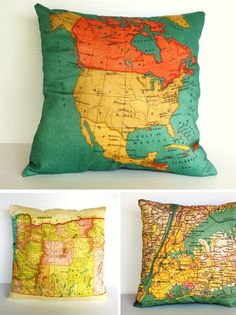 Map pillows!
