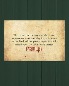 It's all in the name. Baseball