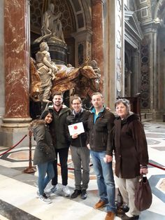 Look how quiet St Peter's Basilica looks in the morning! Our guide Davide took this photo with our clients on March 15th during their early morning tour of the Vatican Museums & St Peter's Basilica. The best thing about visiting the Vatican museum in the morning is the lack of people around you!