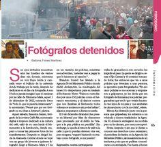 Fotógrafos detenidos.. Zócalo 155