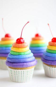 Rainbow Cupcakes | Fun Family Crafts