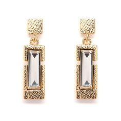 Royal Gold Stick Dangle Earrings www.STARSDAZZLE.com