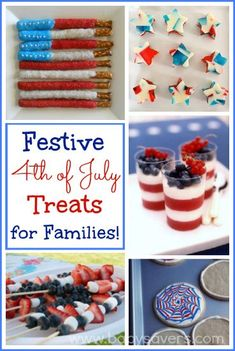 Best 4th of July treats for families. Love these ideas!